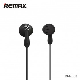 Remax Candy Earphone with Microphone - 301 - Black