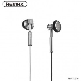 Remax Earphone with Microphone & Volume Control - RM-305M - Black