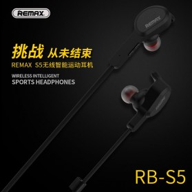 Remax Bluetooth 4.1 Wireless Sport Headset Earphone - RB-S5 - Black - 2