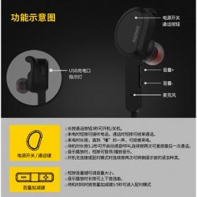 Remax Bluetooth 4.1 Wireless Sport Headset Earphone - RB-S5 - Black - 6
