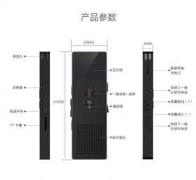 Remax Perekam Suara Digital Meeting Voice Recorder - RP1 - Black - 11