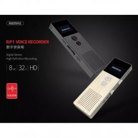 Remax Perekam Suara Digital Meeting Voice Recorder - RP1 - Black - 16