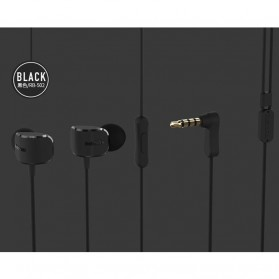 Remax Crazy Robot Earphone Colorful with Microphone - RM-502 - Black - 2