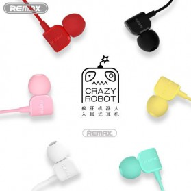 Remax Crazy Robot Earphone Colorful with Microphone - RM-502 - Black - 3