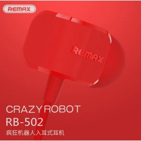 Remax Crazy Robot Earphone Colorful with Microphone - RM-502 - Black - 4