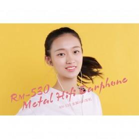 Remax Metal Hi-Fi Earphone - RM-530 - Black - 6