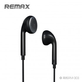 Remax Earphone - RM-303 - Black