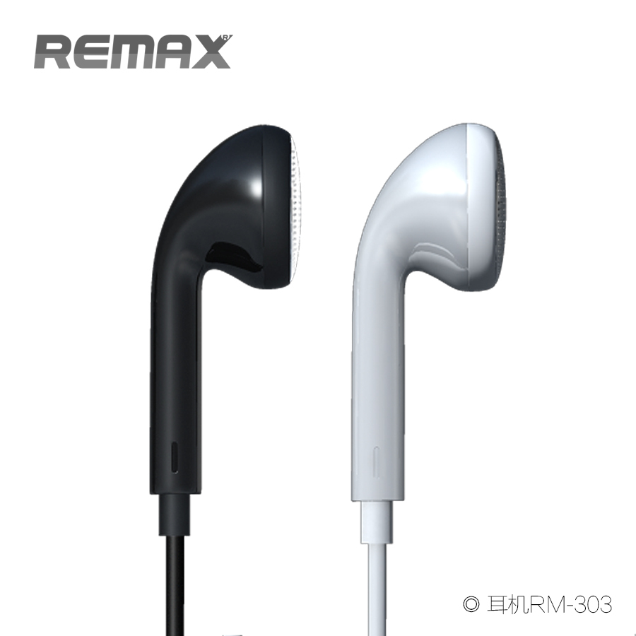Remax Earphone Rm 303 Black Handsfree 305m With Volume Control Original 2
