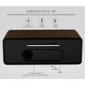 Remax Retro Bluetooth Speaker FM Radio - RB-H8 - Black - 4