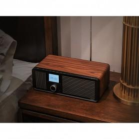 Remax Retro Bluetooth Speaker FM Radio - RB-H8 - Black - 7