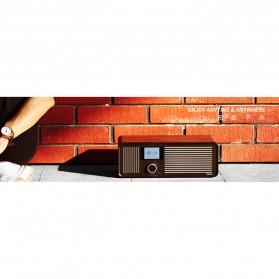 Remax Retro Bluetooth Speaker FM Radio - RB-H8 - Black - 9