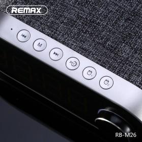 Remax Jam Weker Alarm Meja LED dengan Speaker Bluetooth - RB-M26 - Black - 2
