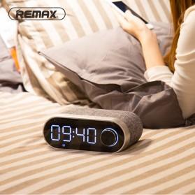 Remax Jam Weker Alarm Meja LED dengan Speaker Bluetooth - RB-M26 - Black - 3