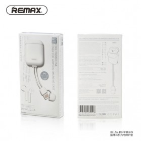 Remax Silicone Case with Lightning Cable for Airpods Charging Case - RC-A6 - White - 8