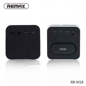 Remax Fabric Mini Bluetooth Speaker - RB-M18 - Black