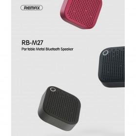Remax Wireless Bluetooth Portable Speaker Metal - RB-M27 - Dark Blue - 4