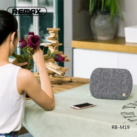 Remax Desktop Fabric Bluetooth Speaker - RB-M19 - Black - 3