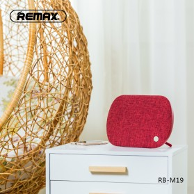 Remax Desktop Fabric Bluetooth Speaker - RB-M19 - Black - 4