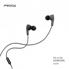 Proda Earphone - PD-E100 - Black