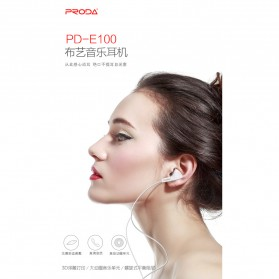 Proda Earphone - PD-E100 - Black - 3