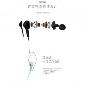 Proda Earphone - PD-E100 - Black - 5