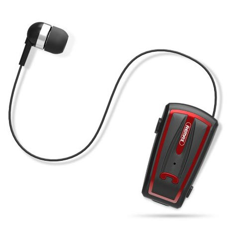 Remax Earphone Bluetooth Clip-On Receiver - RB-T12 - Black