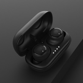 Remax TWS Airpods Earphone Bluetooth dengan Charging Case - TWS-2 - Black