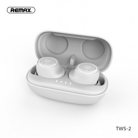 Remax TWS Airpods Earphone Bluetooth dengan Charging Case - TWS-2 - White
