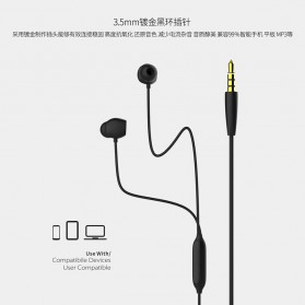 Remax Music Earphone with Microphone - RM-550 - Black - 2