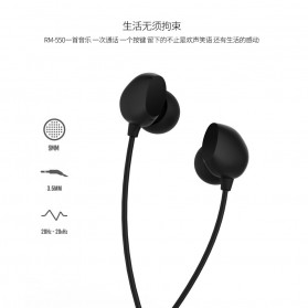 Remax Music Earphone with Microphone - RM-550 - Black - 9