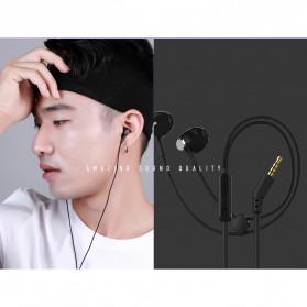 Remax Stylish Earphone with Microphone - RM-330 - Black - 1