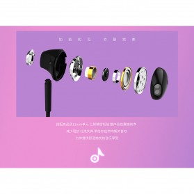 Remax Stylish Earphone with Microphone - RM-330 - Black - 6