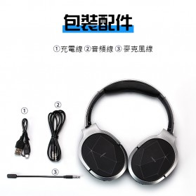Remax Proda Bluetooth Gaming Headphone - PD-BH200 - Silver - 6