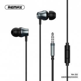 Remax Music Earphone with Mic - RM-202 - Black