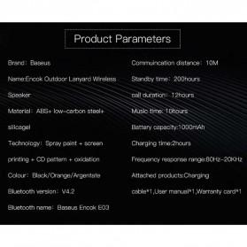 Baseus Encok Portable Bluetooth Speaker - E03 - Black - 7