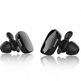 Baseus Encok Dual TWS Airpods Earphone Bluetooth - W02 - Black - 2