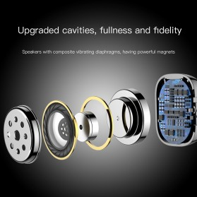 Baseus Encok Dual TWS Airpods Earphone Bluetooth - W02 - Black - 3