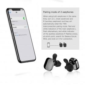 Baseus Encok Dual TWS Airpods Earphone Bluetooth - W02 - Black - 5