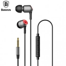Baseus Encok Super Bass Wired Earphone - H02 - Black