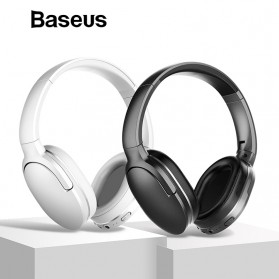 Baseus Encok D02 Foldable Wireless Bluetooth Headphones with Mic - Black