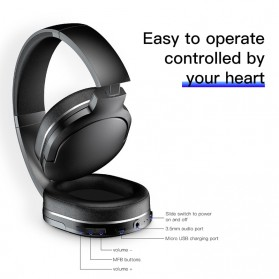 Baseus Encok D02 Foldable Wireless Bluetooth Headphones with Mic - Black - 2