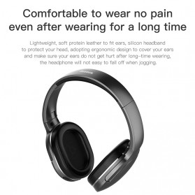 Baseus Encok D02 Foldable Wireless Bluetooth Headphones with Mic - Black - 3