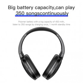 Baseus Encok D02 Foldable Wireless Bluetooth Headphones with Mic - Black - 4