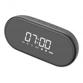 Baseus Encok Portable Wireless Bluetooth Speaker with Jam Alarm Clock - NGE09-01 - Black