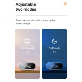 Baseus Encok Portable Wireless Bluetooth Speaker with Jam Alarm Clock - NGE09-01 - Black - 4