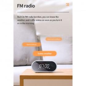 Baseus Encok Portable Wireless Bluetooth Speaker with Jam Alarm Clock - NGE09-01 - Black - 5
