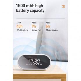 Baseus Encok Portable Wireless Bluetooth Speaker with Jam Alarm Clock - NGE09-01 - Black - 7
