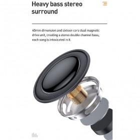 Baseus Encok Portable Wireless Bluetooth Speaker with Jam Alarm Clock - NGE09-01 - Black - 9