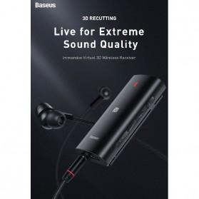 Baseus Wireless Bluetooth 5.0 Receiver Audio Adapter APT-X NFC - NGBA03-01 - Black - 2
