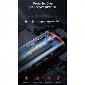 Baseus Wireless Bluetooth 5.0 Receiver Audio Adapter APT-X NFC - NGBA03-01 - Black - 4